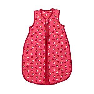 Slumbersac Summer Baby Sleeping Bag 0.5 Tog - Bamboo Muslin Red Apple - 6-18 months/90cm