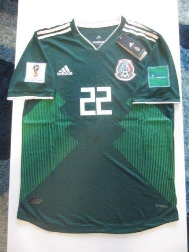Amazon.com   CLIMACHILL Chucky HIRVING Lozano  22 Mexico 2018 FIFA World  Cup Large Green Home Authentic Player Match Jersey Patches   Sports    Outdoors 8749f4f61