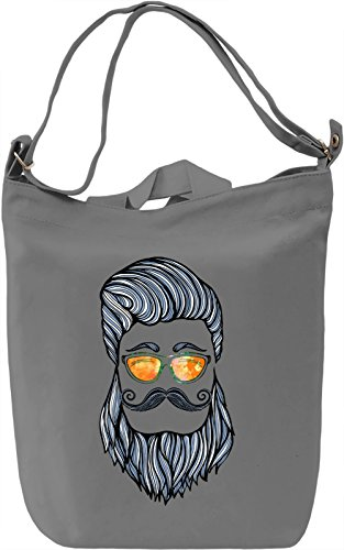 True Hipster Borsa Giornaliera Canvas Canvas Day Bag| 100% Premium Cotton Canvas| DTG Printing|