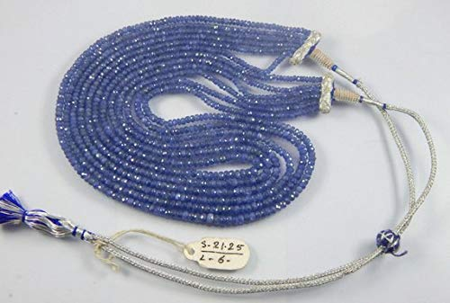 Super Quality Gemstone Beautiful Jewelry Royal Blue Sapphire Faceted Beads 6 Line,Blue Sapphire Beads,Blue Sapphire Beads 6 Strand 3-5 mm Code-JP-2201   B07KNRXLPQ