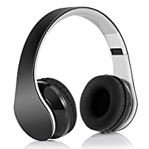 Headphone Bluetooth 4.1 Pieghevole, Cuffia Bluetooth stereo Hi-fi con 3.5 mm jack e ruduzione del rumore per iPhone 7s plus/7s,iPhone 6s plus/6s, iPhone 6/6 Plus, iPhone 5s/5c/5/4s, iPad, LG G2, Samsung Galaxy S6 Edge+/S6 Edge/S6/ S5/S4/S3, Note 4/Note 3/Note 2, Sony, Huawei ed altri Smartphone
