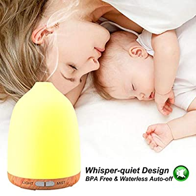 120ml Wood Grain Aroma diffuser-7 Color Change by Ms Kelly