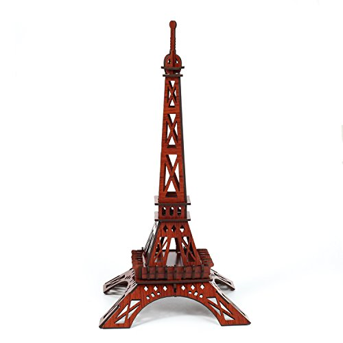 3D Wooden Puzzle, Eiffel Tower - Educational Toys 3D Puzzle Gift for Children (4d Adult Football)
