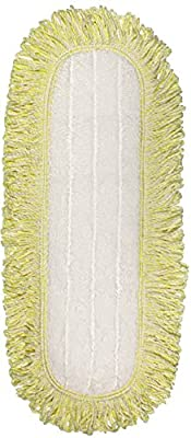 CleanAide Coral Weave Microfiber Mop Pad with Rope Border 24 Inches Yellow