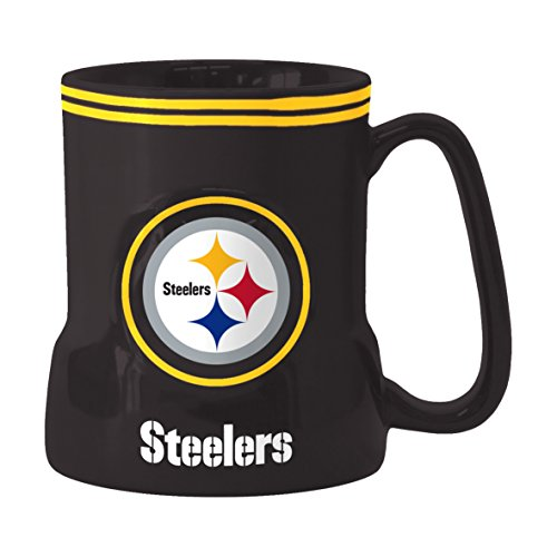 (NFL Pittsburgh Steelers Sculpted Game Time Mug, 18-ounce, Black)