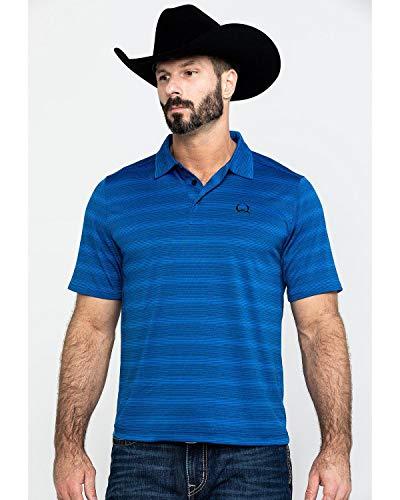 Cinch Men's Arenaflex Polo Shirt, Brandy Blue, M