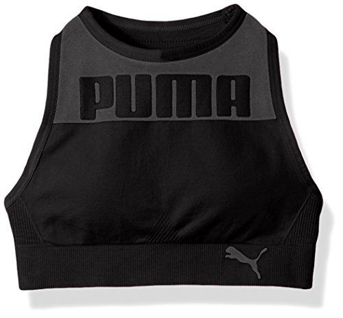 PUMA Big Girls Seamless Logo Halter Sports Bra