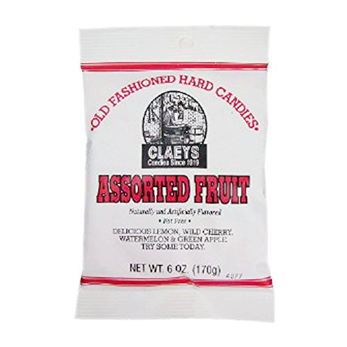 (Assorted Fruit Hard Candy 6oz candy by Claey's Candy)