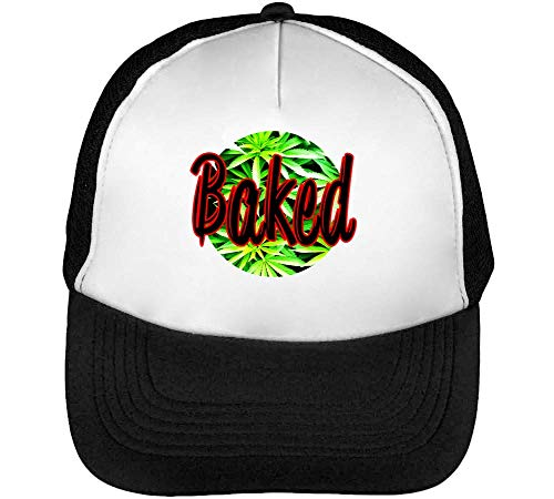Blanco Gorras Cannabis Beisbol Fashioned Negro Snapback Hombre Baked q07dxERwx