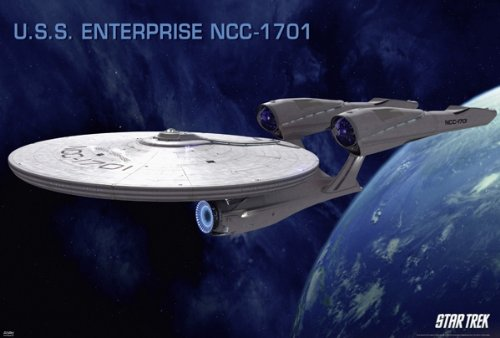 (Star Trek XI: The Future Begins - Movie Poster (Enterprise NCC-1701) (Size: 36