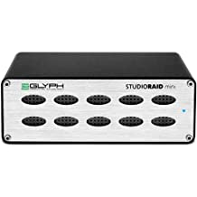 Glyph Technologies StudioRAID mini 6TB (2x 3TB) 2-Bay External Hard Drive Array, USB 3.0, 2x FireWire 800, eSATA, Up to 250MB/s Transfer Rate, RAID 0 and 1