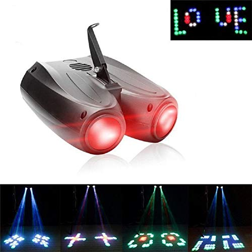 RGBW Pattern Stage Light 128Leds Auto and Voice-activated Stage Effect Moonflower Projector Lighting for DJ Party Wedding Events Club