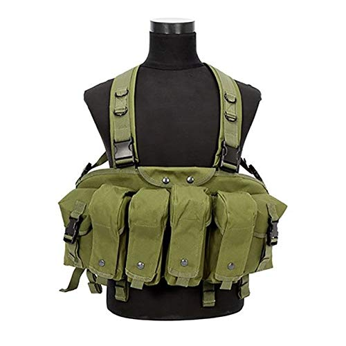 Ponis-Limos - Outdoor Hunting Military Camouflage War Game Tactical Vest Chest Rig AK 47 Combat Clothing New Green Color Hunting Vest