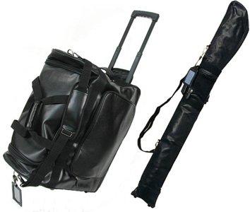 【剣道具 防具袋+竹刀袋セット】PVC遠征用キャリーバッグ + PVC竹刀ケース