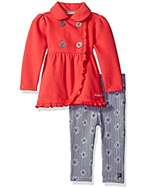 Baby Girls' Fleece Jacket with Leggings Set