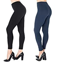 NUUR 2-Pack High Waist Leggings, Ultra Soft Workout Tights Women Girls, All Match Style in Ankle Length