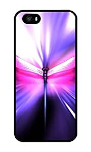 Iphone 5S Case ZOEHOME Abstract Dragonfly Black PC Hard Case For Apple Iphone 5S