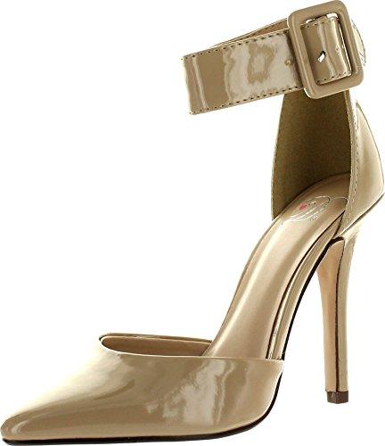 Deliziose Scarpe Da Donna Con Data-h Pompe-scarpe Dk Beige Pat