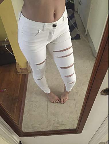 Popoye White White Jeans Donna Popoye Popoye Jeans Donna 6rxq6wCZg