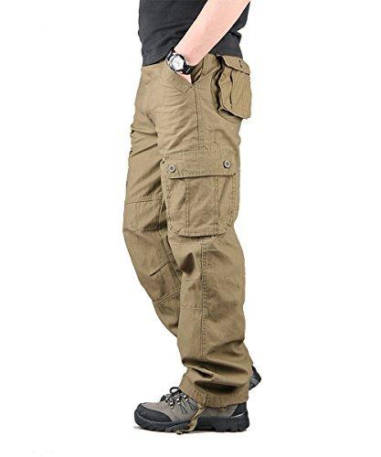 TAIPOVE Pantalones Largos Cargo para Hombre dfb893ef23bb
