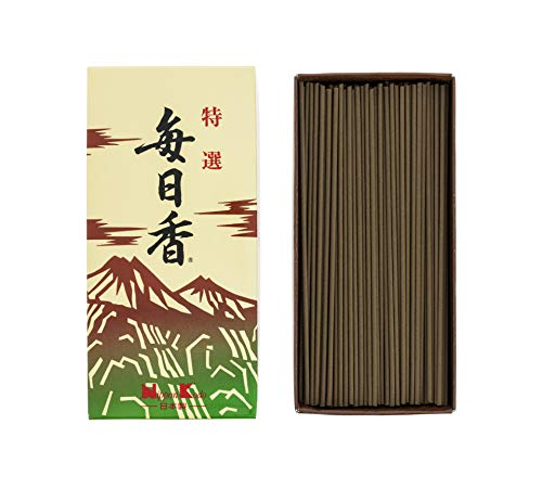 MAINICHI-KOH Kyara Deluxe 300 sticks by NIPPON KODO, Japanese Quality Incense Since 1575