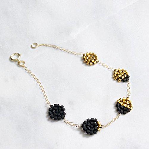 Amazoncom Moon Phase Bracelet Lunar Phase Bracelet Black and