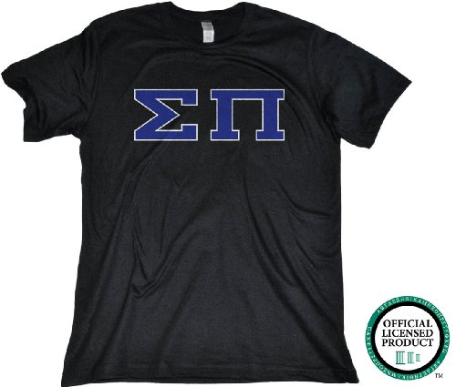 Ann Arbor T-shirt Co Men's SIGMA PI-Fitted, SigPi Fraternity T-Shirt