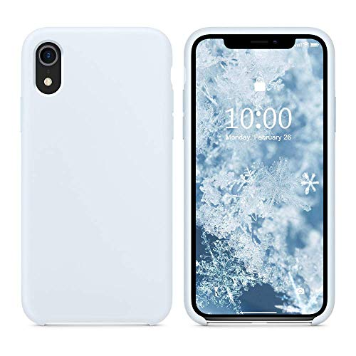 SURPHY Silicone Case for iPhone XR, Slim Liquid Silicone Soft Rubber Protective Phone Case Cover (with Soft Microfiber Lining) Compatible with iPhone XR 6.1