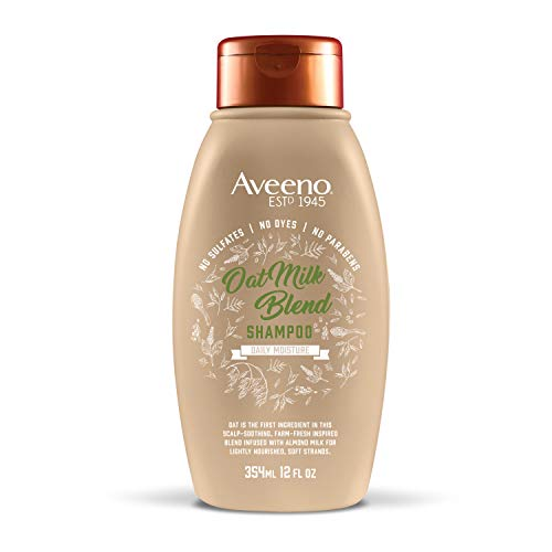Aveeno Scalp Soothing Oat Milk Blend Shampoo for Daily Moisture and Light Nourishment, Sulfate Free Shampoo, No Dyes or Parabens, 12 fl. oz