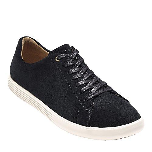 Cole Haan Femmes Grand Crosscourt Sneaker Noir Suede-blanc