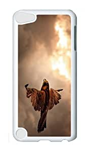 Ipod 5 Case,MOKSHOP Cute Flying Falcon Hard Case Protective Shell Cell Phone Cover For Ipod 5 - PC White