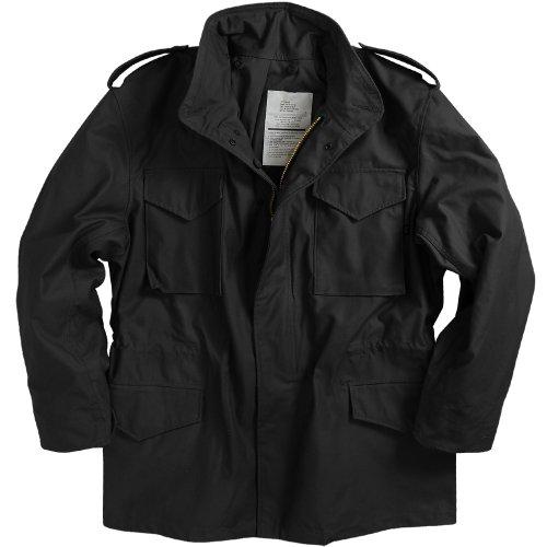 Alpha Industries Men's M-65 Field Coat, Black, L