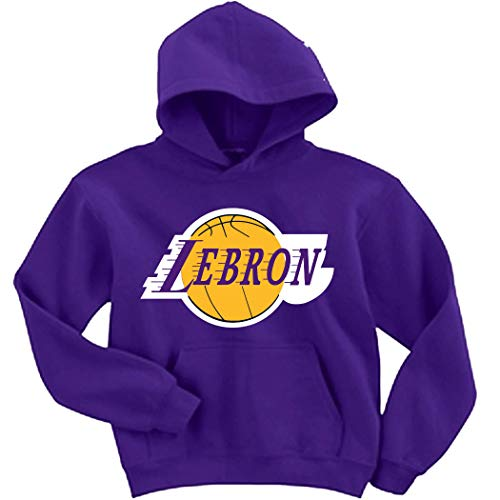 Purple Los Angeles Lebron Logo Hooded Sweatshirt Youth