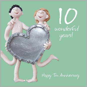10th wedding anniversary card amazon kitchen home 10th wedding anniversary card m4hsunfo