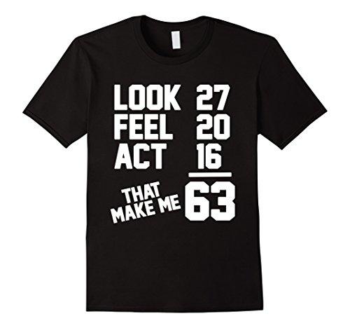 Mens 63th Birthday Gift 63 Year Old T-shirt 2XL Black