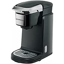 Single Cup Machine - Compatible With K-Cups - by Mixpresso Coffee (Black)