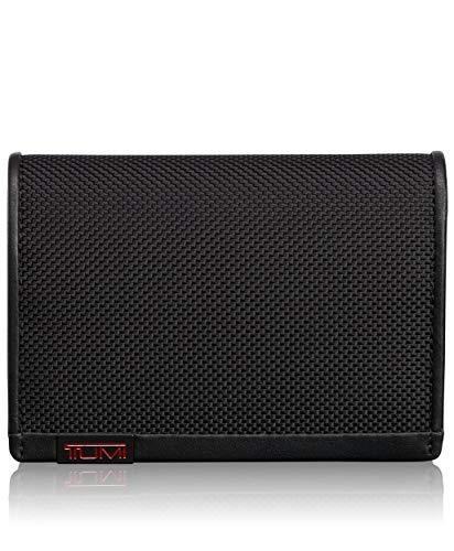 Tumi Men's Alpha L-Fold ID RFID Blocking Wallet, Black, One - Fold Passport Wallet