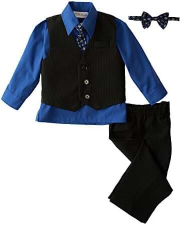 Spring Notion Baby Boys' 5 Piece Pinstriped Vest Set