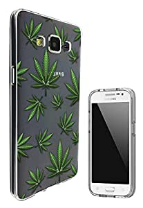 c0152 - Marijuana Leaf Cannabis Weed Rasta Jamaican Marley Style Design Samsung Galaxy Grand Prime G530 Fashion Trend Hard Plastic Case Protective Full Case Front, Back & All Edges Protection Case Cover