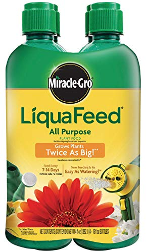 - Miracle Gro 1004325 16 Oz LiquaFeed Plant Food Refill Bottles 12-4-8 4 Count