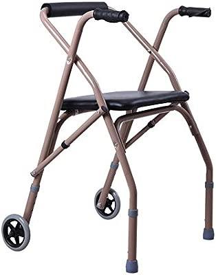 Andador de ruedas con 2 ruedas para andar Marco de andador ...