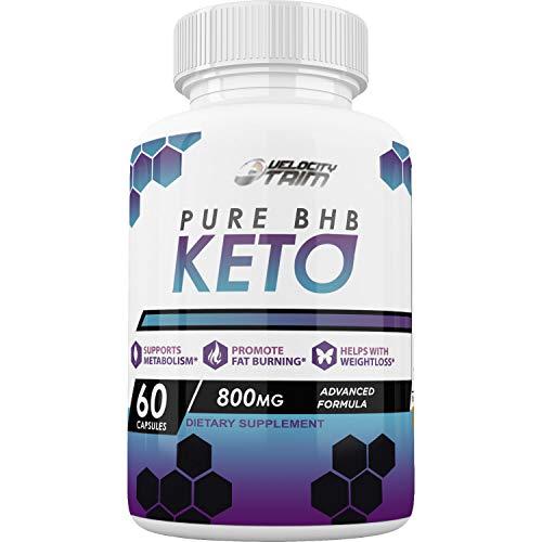 Velocity Trim Keto Diet - Advanced Ketosis Weight Loss - Premium Keto Diet Pills - Burn Fat for Energy not Carbs