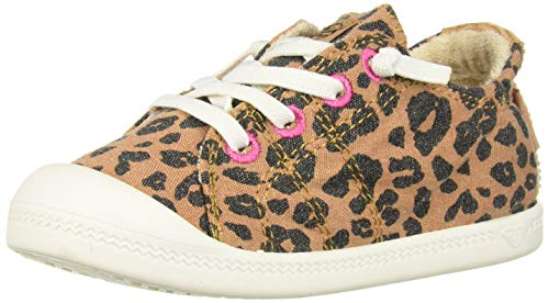(Roxy Girls' TW Bayshore Slip On Sneaker Shoe, Cheetah Print, 8 M US Toddler)