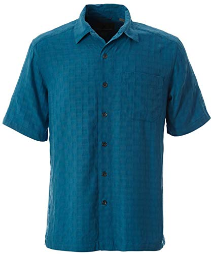 Royal Robbins 71918 Men's San Juan Dry Short Sleeve Shirt, Turkish Tile - L US