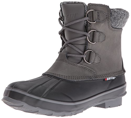 Baffin Women's Elk Snow Boot, Grey, 10 M US (Ankle Front Boot Lacing)