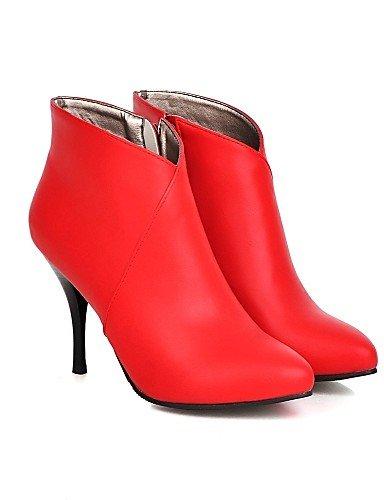 Botas Puntiagudos Cn39 Mujer Vestido La Eu39 Eu35 Uk3 Red Xzz Stiletto Fiesta Y Oficina Tacón Cn34 Uk6 us5 Botines Trabajo De Zapatos Noche Black us8 Moda A qxf1E0Y