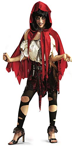 Rubie's Costume Deluxe Little Dead Riding Hood Costume, Red/Black/White, X-Large -