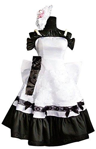 Mtxc Women's K-On! Cosplay Costume Yui Hirasawa ED Dress Size X-Large White