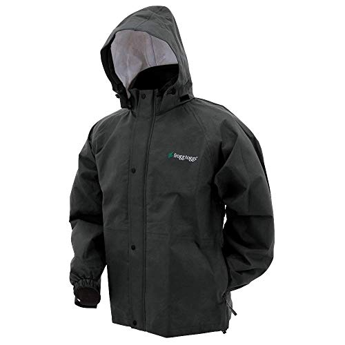 Frogg Toggs Bull Frogg Waterproof Rain Jacket, Black, XXX-Large