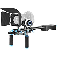 Neewer® Aluminum Movie Kit Film Rig for Canon Nikon Sony and other DSLR Camera include: 1*Shoulder Rig+1*Matte Box+1*Follow Focus